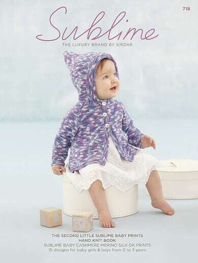 The Second Little Sublime Baby Prints Hand Knit Book 718   15 designs