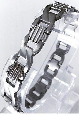 Color Da Classico Bracciale Design inossidabile Lusso Acciaio Argento Uomo SMART in BELLISSIMO Nuovo wqCawYA