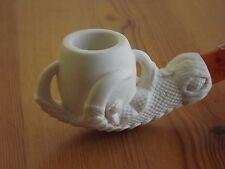 Standard Regular Turkish Meerschaum Tobacco Pipe - Embossed Eagle Claw Egg