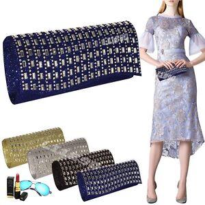 Image Is Loading Women Diamante Sparkly Handbags Evening Clutch Bag Wedding