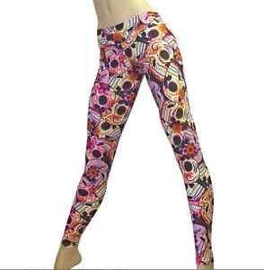 b14a1529db09e Pink Sugar Skull Yoga Pants Low rise Legging Pants Workout Lycra ...
