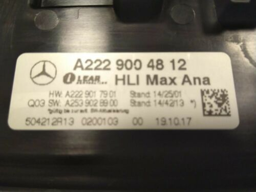 LED STEUERGERÄT Leuchtweitenregelung MERCEDES GLC X253 W253 A2229004812 RECHTS