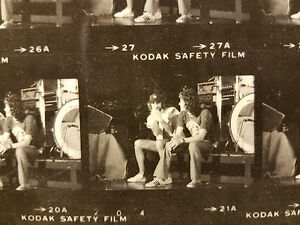c1977 RUMOURS ERA FLEETWOOD MAC PROOF SHEET JOHN MCVIE & CURRY GRANT MID FINGER