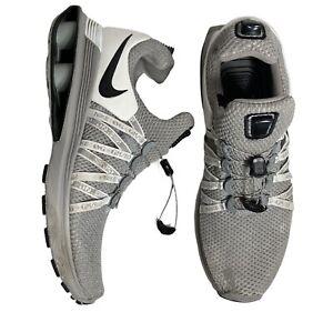 Nike-Shox-Gravity-Men-039-s-Shoes-Size-9-Wolf-Grey-Black-White-AR1999-010