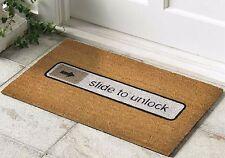 Slide To Unlock Non Slip Welcome Floor Entrance Coir Mat Outdoor Doormat Rubber