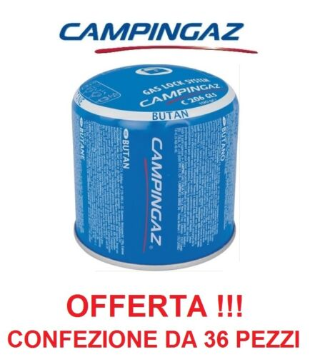 BOMBOLETTA CARTUCCIA CARTUCCE C206 GLS CAMPINGAZ BUTANO *** 36 PEZZI ***