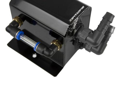 Motamec Alliage 0.5 L Petit Récupérateur d/'huile anodisé noir