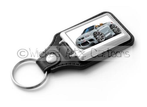 WickedKarz Cartoon Car BMW E93 M3 3 Series Cabriolet in Silver Stylish Key Ring