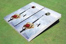 Fishing Rod Custom Cornhole Board