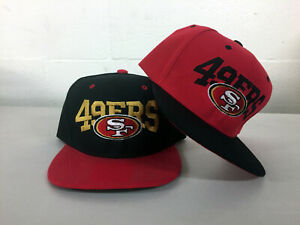 San-Francisco-49ers-Write-Snap-Back-Cap-Hat-SF-Embroidered-Adjustable-Flat-Bill