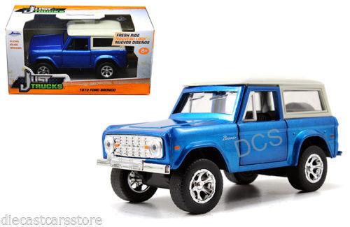JADA  JUST TRUCKS 1973 FORD BRONCO BLUE 1//32 DIECAST CAR 97134