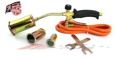 Propane Butane Gas Torch Burner Hose Regulator Blow Roofers Plumbers Roof kit
