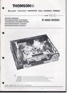 Service-MANUAL-r6000-MONO-quadro-immagini-e-note-di-servizio-88-pagine