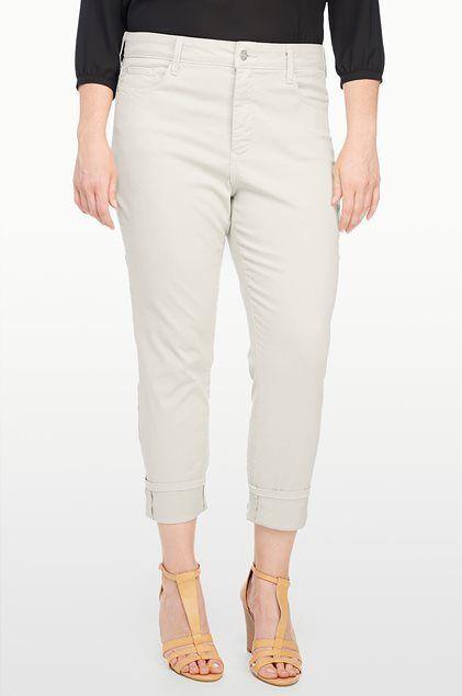 NEW NYDJ Not Your Daughters Jeans BOBBIE boyfriend Sand Dollar 4 6 8 14 16 khaki