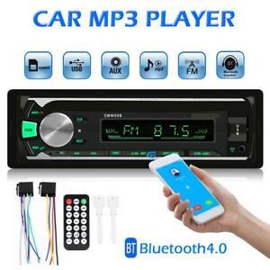 1DIN-Bluetooth-Car-Stereo-Audio-In-Dash-FM-AUX-In-Receiver-USB-MP3-Radio-Player