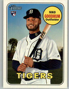 10-Niko-Goodrum-2018-Topps-Heritage-High-Number-10-CARD-LOT-Tigers-RC-534