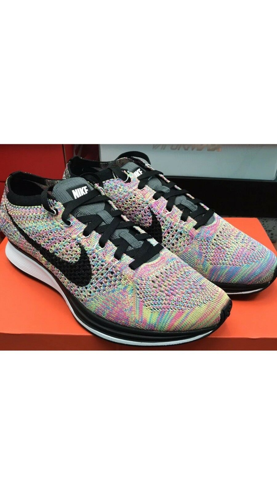 DS Nike Flyknit Racer MULTICOLOR Comfortable The latest discount shoes for men and women