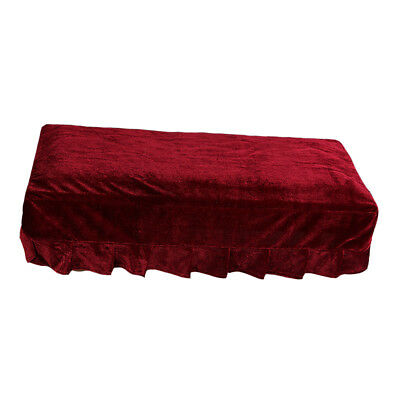 Pleuche Piano Stool Bench Cover Rectangle Seat Chair Dust Protective Sleeve