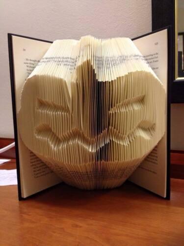 Libro Arte Plegable patrón Calabaza 262 pliegues Halloween Regalo # 051