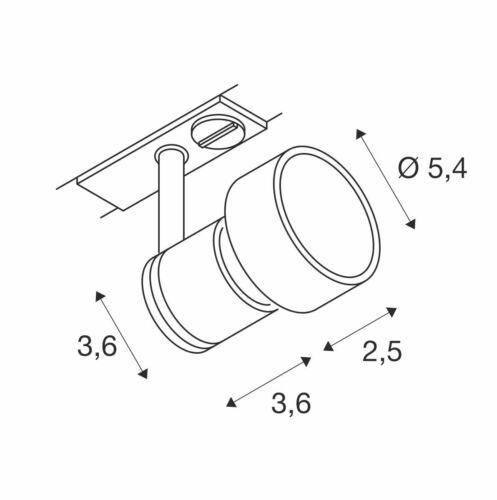 ohne Leuchtmitte weiß PURI Leuchtenkopf inkl 1 Phasen-Adapter 50W GU10 max