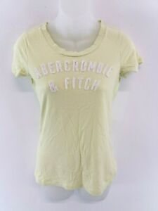 ABERCROMBIE-amp-FITCH-pour-femme-T-Shirt-Top-M-Medium-coton-vert