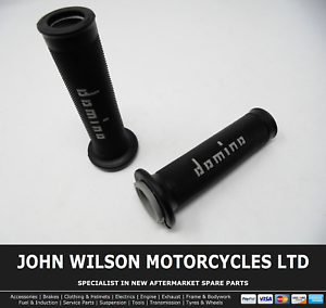 Aprilia RST 1000 Mille Futura Black Grey Domino Handle Bar Race Grips