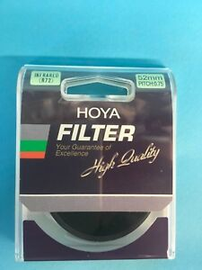 New Sealed Hoya 52mm PITCH:0.75 INFRARED R72 Filter made by Tokina Co. Ltd.