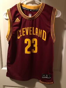 Details about Lebron James Cleveland 23 Adidas Maroon Gold Jersey Youth Medium