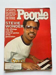 Vintage October 1976 People Magazine Stevie Wonder Weekly Issue