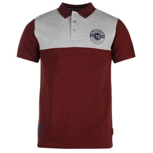 venta 10/% De Descuento Para Hombre Kickers Borgoña//Gris Jaspeado Polo Camiseta con Motivo-RRP £ 21.99