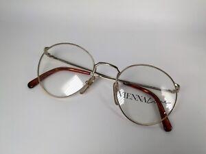 VIENNALINE-Brille-1554-40-De-Luxe-Vintage-Eye-Frame-Classic-Round-Eyeglasses-NOS