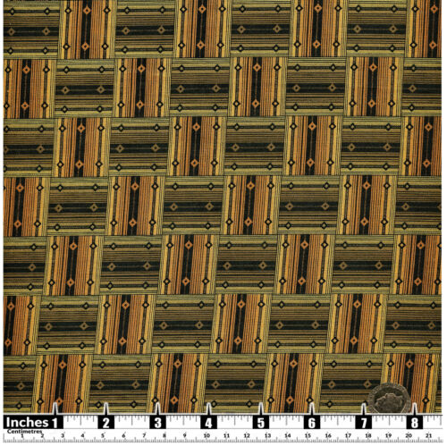 Quilting Fabric African Style Green Geometric Shapes 100/% Cotton Fat Quarter