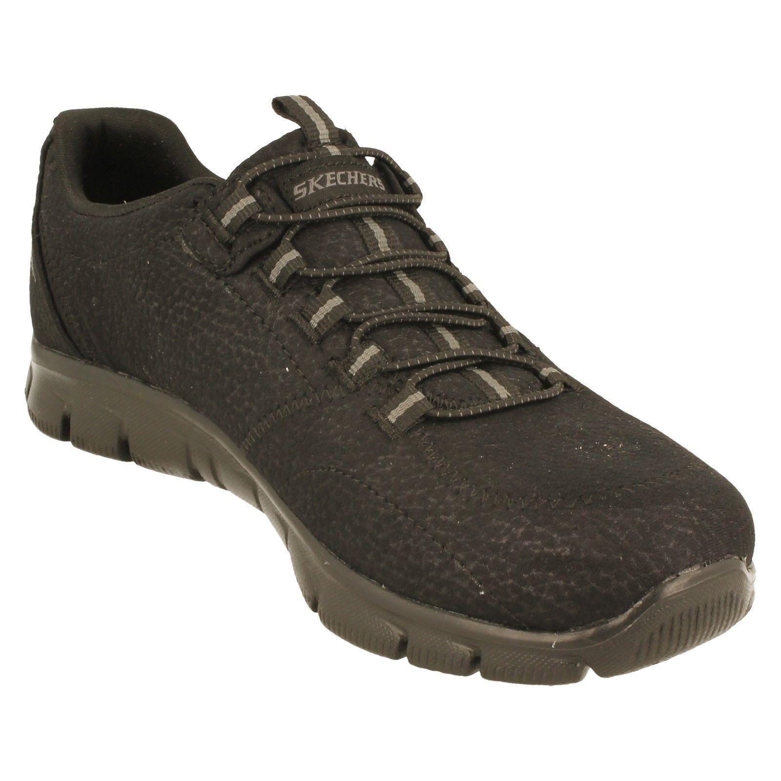 Mujer TAKE Charge Textil Elástico Zapatillas Con Elástico Textil Encaje de Skechers 6ec7e9