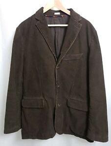 J-Crew-Vintage-Cord-Dark-Brown-Corduroy-Sport-Coat-Blazer-Jacket-sz-LARGE-Men-039-s