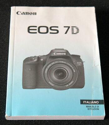 Original Canon Instruzioni Eos 7 D Italiano Ebay