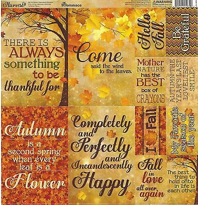 12x12 Scrapbook Kit by Reminice Best of Harvest Papers /& Stickers Set