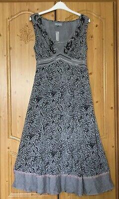 New Tagged M&s Per Una Grey Black Dress Size 10 L Embellished Lace Wedding Bnwt