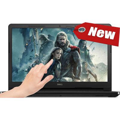 "NEW! DELL 15.6"" TouchScreen Laptop AMD 2.80GHz 4GB 1TB DVD+RW WebCam HDMI Win10"