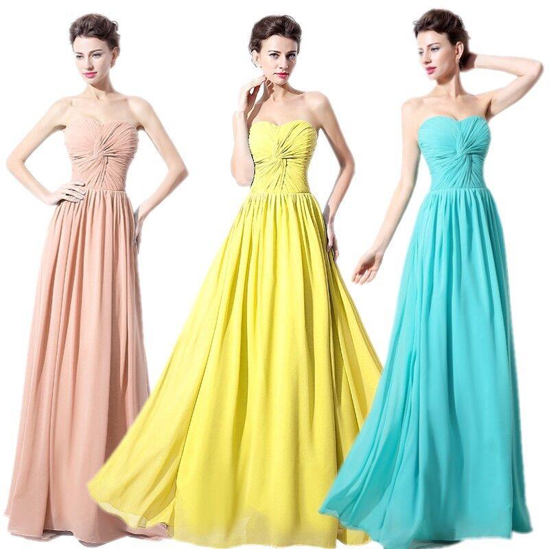 Lang Trägerlos Kleider Ballkleid Heimkehrkleid Brautkleid Abendkleid Partykleid