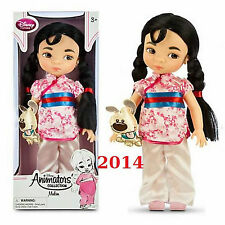 Disney Store Princess Animators Collection Mulan Doll 16 in Plush Pet NEW 2014