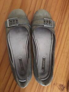 SALE Ecco Ballerina Flat Shoes Dirty