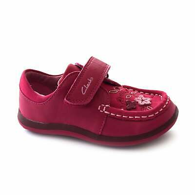 Girls Clarks Softly Lou Fst Leather First Walking Shoes