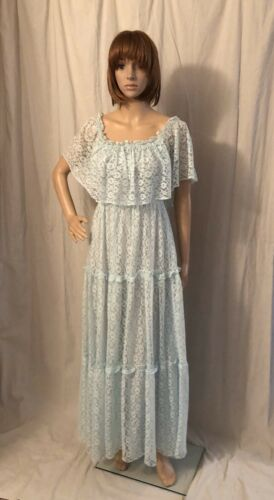 Vintage 1970s Lace Dress by Candy Jones California