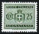 REGNO D'ITALIA - SEGNATASSE - STEMMA SABAUDO CON FASCI - Cent. 25 Azzurro - 1934
