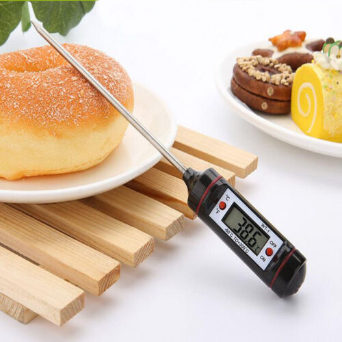 Electronic Digital Food Probe Thermometer Needle Measure BBQ Meat Temperature