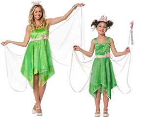Feen-Fee-Elfe-Tinkerbell-Marchen-Kostum-Kleid-Elfen-Kinder-Waldfee-Damen-Wald