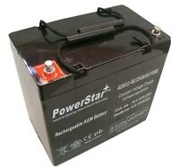 Pride Mobility 12v 60ah 22nf Agm Deep Cycle Battery Replaces Upg 55ah-2yr Warran