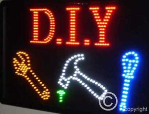 Details about QUALITY FLASHING D I Y tools construction LED sign board new  window shop signs