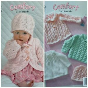 8c2242d03 KNITTING PATTERN Baby Long Sleeve Cable Jumpers Hat   Coat Aran King ...