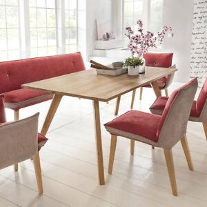 esstisch trondheim esszimmertisch tisch in eiche natur massiv ge lt 180x90 cm ebay. Black Bedroom Furniture Sets. Home Design Ideas